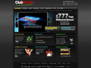 Club World Casino Online Screenshot