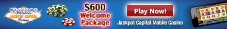 Jackpot Capital Mobile banner