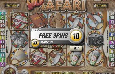 Wild Safari Rival Online Slot Machine